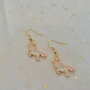 Tiny Unicorn Earrings by The Tangled Cotton